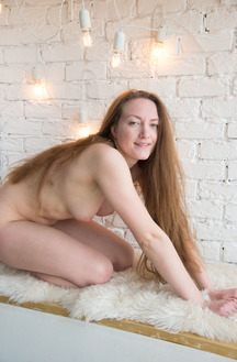 Verna Showing Her Small Tits And Shaved Pussy